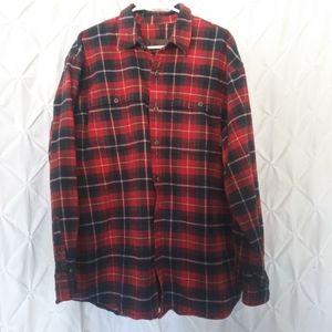 Timberland winter weight plaid flannel shirt